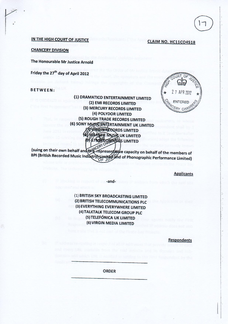 what is a court injunction order