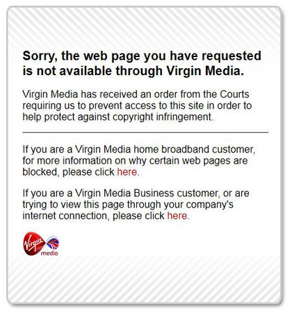 Virgin Media Blocking Notice